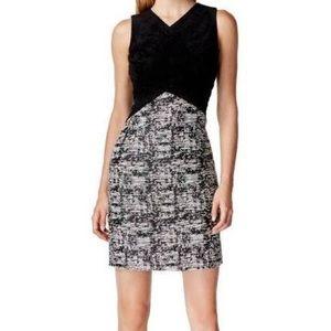 Calvin Klein Dress Black & White Faux suede